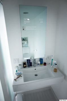 Every Bathroom should have this Incredible Google-Powered 'Smart Mirror'