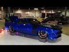 1969 Ford Mustang Custom RestoMod with a 572 engine in Super Blue on My Car Story with Lou Costabile - YouTube