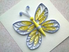 Quilling instructions: How to make quilling butterfly with comb. Quilling patterns. - YouTube