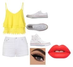 """""""Untitled #45"""" by abelinaruiz26 ❤ liked on Polyvore featuring Glamorous, Ally Fashion, Converse, Lime Crime, women's clothing, women, female, woman, misses and juniors"""