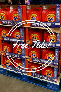 Want free Tide samples? Take an easy survey (5 minutes tops) to qualify for a free sample AND free shipping! Samples are 100% free - no CC is required. Laundry day just got better. #laundryday