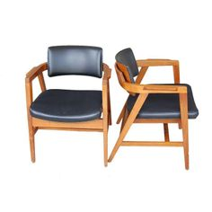 Mid-Century Gunlocke Chairs - A Pair - $700 Est. Retail - $495 on Chairish.com