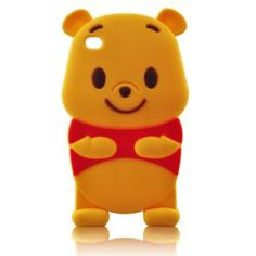 Amazon.com: 3D Cartoon Winnie the Pooh Soft Silicone Skin case cover for IPod Touch 4/4G/4th generation + STYLUS PEN with Anti Dust Plug: Electronics
