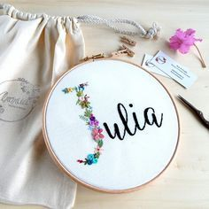Thrilling Designing Your Own Cross Stitch Embroidery Patterns Ideas. Exhilarating Designing Your Own Cross Stitch Embroidery Patterns Ideas. Name Embroidery, Hand Embroidery Stitches, Embroidery Hoop Art, Hand Embroidery Designs, Cross Stitch Embroidery, Embroidery Ideas, Knitting Stitches, Hand Stitching, Beginner Embroidery
