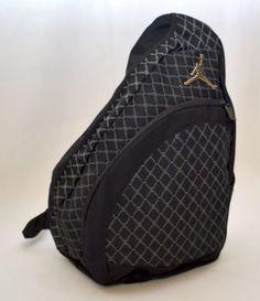 16c9c3da1f1 Nike Air Jordan Jumpman Sling Backpack Gym Bag Black Silver 23 Mochila    eBay