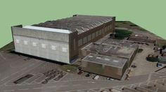 Large preview of 3D Model of 1934 C type Hangar, Abingdon Airfield, Oxfordshire