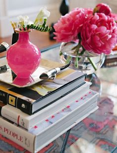 Meg Galligan Home Tour // coffee table styling // photography by Andi Hatch