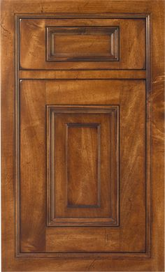 Georgetown Raised door style by #WoodMode, shown in distressed Antique Leather finish on maple.