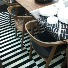dining chairs from IKEAs new Stockholm line, available in the US this August
