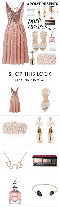 """#PolyPresents: Party Dresses"" by paculi ❤ liked on Polyvore featuring Bobbi Brown Cosmetics, Jean-Paul Gaultier, Pier 1 Imports, contestentry and polyPresents"