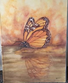 Monarch Watercolor original artwork by Susan Grim
