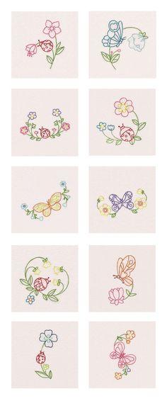 Fantastic Garden Colorlines Embroidery Machine Design Details