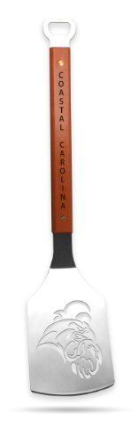 Sportula Products 7015040 Coastal Carolina Chanticleers  Sportula by SPORTULA PRODUCTS. $24.99. Unique laser-cut design. Hard maple handles with durable brass rivets. Custom heat-stampled lettering. Heavy-duty stainless steel. convenient bottle opener. The Sportula is a heavy duty stainless steel grilling spatula that is perfectly designed for the Ultimate Tailgater.