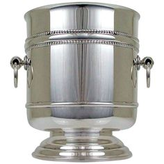 Fine Silver Plate French Christofle Ice Bucket Wine Cooler | From a unique collection of antique and modern barware at https://www.1stdibs.com/furniture/dining-entertaining/barware/