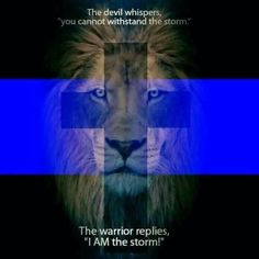 The devil whispers, you cannot withstand the storm. The warrior replies, I AM the storm! Police Officer Wife, Police Officer Requirements, Police Wife Life, Police Family, Law Enforcement Quotes, Support Law Enforcement, Police Quotes, Police Humor, Cop Quotes