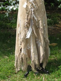 Leather Wedding Dress Native American Inspired by hippiebride, $1495.00