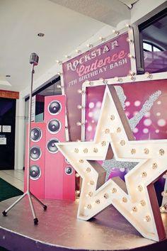 rockstar, concert, event styling
