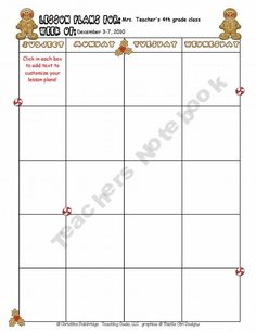 Blank Lesson Plan Template  Mills Blank Lesson Plan Template This