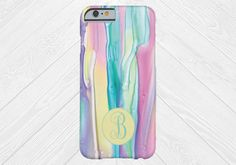 Watercolor Monogram Cell Phone Case, iPhone 6 case, Note 4 cell case, iPhone 6 plus cell phone case, iPhone 6 plus case, Galaxy Samsung S6 by DesignsbyLiv15 on Etsy