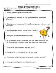 language arts worksheet, vocabulary worksheet, phonics worksheet, syllables
