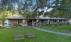 Spanish Hacienda Style Ranch Meryl Streep Owned - Home Plans & Blueprints | #85654