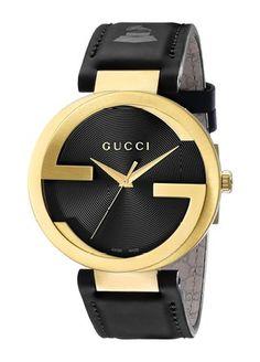 b875847e487 GUCCI INTERLOCKING YA133208  Frida Giannini  Amazon.de  Uhren. Gold WatchesBlack  ...
