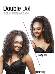 Luxe Beauty Supply - Isis Collection Premium Synthetic Half Wig Pony Tail  TP 23 (http 4b53e23cdedd