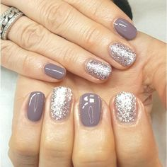 Stylish 42 Pretty Nail Art Designs Ideas To Try This Winter That Looks Adorable Stylish Nails, Trendy Nails, Cute Nails, Silver Glitter Nails, Purple Nails, Glitter Makeup, New Year's Nails, Hair And Nails, Nails For New Years
