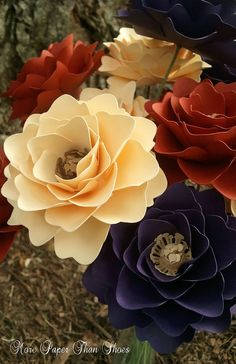 Handmade Paper Flowers - Weddings - Centerpieces - Baby Shower - Deocration