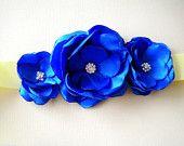 satin flower clips