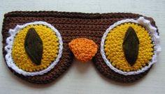 Eye mask free crochet pattern.