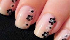 best teen nail art designs, latest nail paint ideas for teenage girls Cute Easy Nail Designs, Classy Nail Designs, Flower Nail Designs, Short Nail Designs, Flower Nail Art, Nail Polish Designs, Nails Design, Nail Flowers, Fingernail Designs