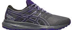 Bringing comfort to every stride the ASICS Womens GELScram 5 trail running shoes are here to help you take on tough runs DESIGN Synthetic leather and mesh upper for a lightweight comfortable feel INSHOE COMFORT Removable EVA sockliner Rearfoot GEL Technology cushioning system attenuates shock during impact phase and allows for a smooth transition to midstance TRACTION  DURABILITY Trail specific outsole with reversed lugs provide uphill and downhill traction on multiple terrains Reinforced… Asics Running Shoes, Trail Running Shoes, Comfortable Shoes, Bring It On, Smooth, Mesh, Toe, Technology, Sneakers