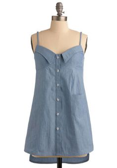 Back of the Pickup Tunic. As you hop into the bed of your BFF's pickup truck, you're oh-so glad to be wearing such a downright adorable sleeveless tunic! #blue #modcloth