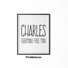 17 beautiful baby names meaning miracle pinterest beautiful charles name meaning print nursery decor letterluxe negle Images