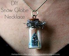 iLoveToCreate Blog: DIY Snow Globe Necklace