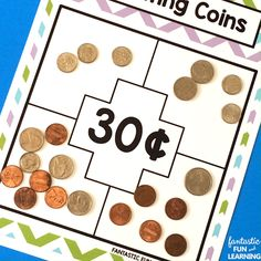 Free Printable Counting Coins Money Games and Puzzles for Kids #kids #freeprintable #elementary
