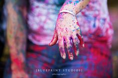 Nicole & Dale's #engagement shoot with #holi  dust. So #colourful Check out the #bling (#ring) www.blueprintstudios.com.au