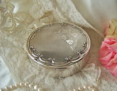 Vintage Silver Plate Jewelry Box Denmark by cynthiasattic on Etsy, $89.00
