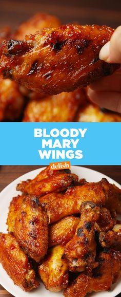 We can't believe these wings taste just like a Bloody Mary. Get the recipe at Delish.com.