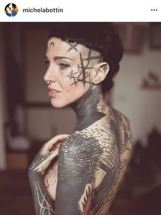 Sexy Tattoos, Body Art Tattoos, Girl Tattoos, Sleeve Tattoos, Tattoed Women, Tattoed Girls, Inked Girls, Face Tattoos For Women, Blackout Tattoo
