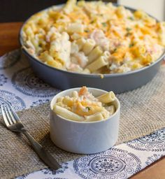 Enjoy one of your favorite Mexican style dishes in the form of a pasta casserole with this tasty Seafood Enchilada Pasta Bake.