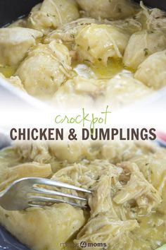 Canned soup and refrigerator biscuits make prep easy for crockpot chicken and dumplings. Easy Crockpot Chicken & Dumplings - Canned soup and refrigerator biscuits make prep easy for crockpot chicken and dumplings. Crockpot Chicken And Dumplings, Easy Crockpot Chicken, Crockpot Dishes, Crock Pot Cooking, Slow Cooker Chicken, Chicken Soup, Canned Chicken, Cooking Steak, Chicken And Dumplins