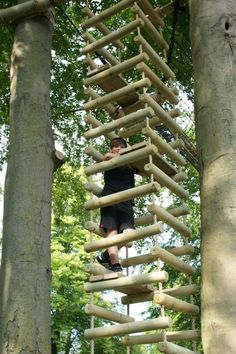 This is an amazing four-sided ladder for your kids treehouse. It makes even the journey to the treehouse an adventure.