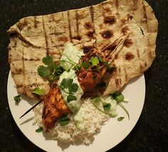 The Home Cook - Everything Food - Spicy Chicken Kebabs, Naan and Raita