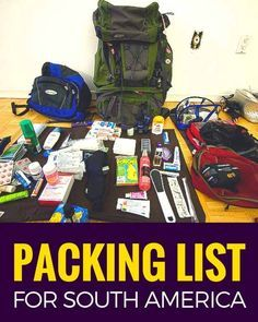 Pack this, not thatThe ultimate packing list. Learn what I packed for backpacking South America. I share what I used and what I should have left home. ~ http://www.baconismagic.ca
