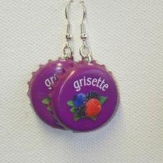 grisette - boucle d oreille percée - mlle capsules - Fait Maison