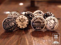 Σετ από 8 Vintage Κεραμικά Πόμολα   Vintage Signs & Clocks knobs (set of 8) At Home Abs, Vintage Signs, Personalized Items, Clocks, Watches, Clock