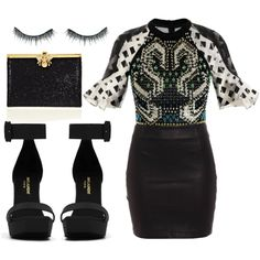 """""""Leather"""" by aztec-rose on Polyvore"""