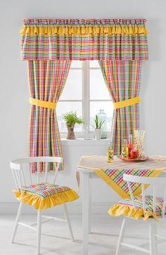 Diy curtains 807481408174282576 - Kitchen Curtains – The Heart of Your Kitchen – Life ideas Source by mustafaminuz Modern Kitchen Curtains, Kitchen Valances, Modern Curtains, Colorful Curtains, Furniture Covers, Funky Furniture, Window Curtain Designs, Valance Patterns, Cute Curtains